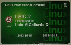 LPIC-2 credential card