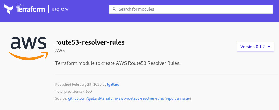 AWS Route53 Resolver Rules